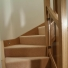 oak staircase takes you from ground to first floor with led lights and glass panels