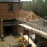 roof truss construction over plot 4