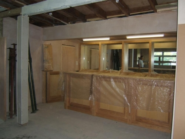 bespoke ash joinery furniture loop managed project at wheathampstead cricket club